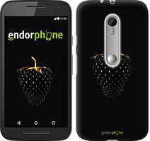 "Чохол на Motorola Moto G3 Чорна полуниця ""3585u-318"""