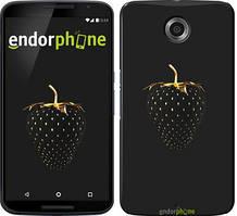 "Чехол на Motorola Moto E Черная клубника ""3585u-373"""