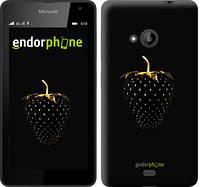 """Чехол на Microsoft Lumia 535 Черная клубника """"3585u-130"""""""