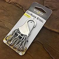 Набор металлических карабинов Nite Ize Key Rack