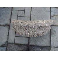 Вазон для цветов «Кашпо» из бетона Гранит красно-серый