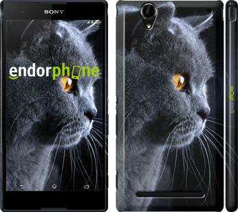 "Чехол на Sony Xperia T2 Ultra Dual D5322 Красивый кот ""3038c-92"""