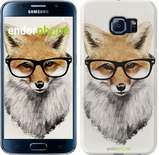 """Чехол на Samsung Galaxy S6 G920 Лис в очках """"2707c-80"""""""