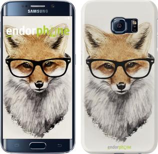 "Чехол на Samsung Galaxy S6 Edge G925F Лис в очках ""2707c-83"""