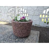 Вазон садовый для цветов «Орион» бетонный Гранит красно-серый