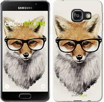 """Чохол на Samsung Galaxy A3 (2016) A310F Лис в окулярах """"2707c-159"""""""