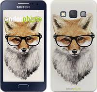 "Чехол на Samsung Galaxy A3 A300H Лис в очках ""2707c-72"""
