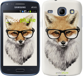 "Чехол на Samsung Galaxy Core Plus G3500 Лис в очках ""2707u-359"""