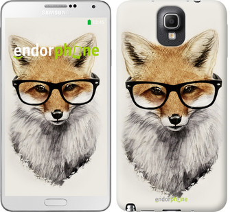 "Чохол на Samsung Galaxy Note 3 N9000 Лис в окулярах ""2707c-29"""
