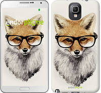 "Чехол на Samsung Galaxy Note 3 N9000 Лис в очках ""2707c-29"""