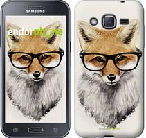 """Чохол на Samsung Galaxy J2 J200H Лис в окулярах """"2707c-190"""""""