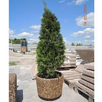 Вазон садовый для цветов «Орион» бетонный Галька коричневая