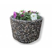 Вазон садовый для цветов «Орион» бетонный Базальт черный