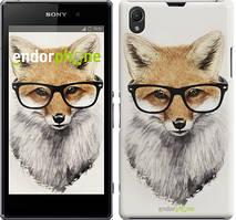 "Чехол на Sony Xperia Z1 C6902 Лис в очках ""2707c-38"""
