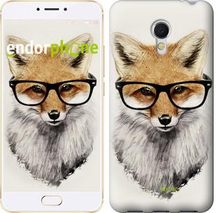 """Чохол на Meizu MX6 Лис в окулярах """"2707u-259"""""""