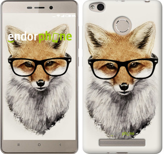 "Чохол на Xiaomi Redmi 3s Лис в окулярах ""2707c-357"""