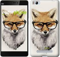 """Чохол на Xiaomi Mi4 Лис в окулярах """"2707u-163"""""""