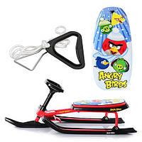 Снегокат Angry Birds, низкая рама, мягкое сиденье с рисунком, красный, в кор-ке