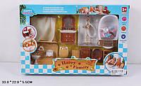 """Игровой набор """"Happy Family"""" (аналог Sylvanian Families) - мебель для ванной."""
