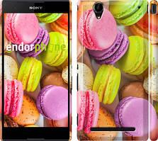 """Чохол на Sony Xperia T2 Ultra Dual D5322 Макаруни """"2995c-92"""""""