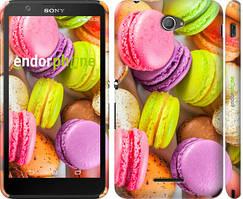 """Чохол на Sony Xperia E4 Dual Макаруни """"2995c-87"""""""