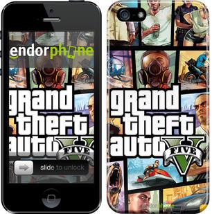 "Чохол на iPhone 5 GTA 5. Collage ""630c-18"""