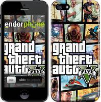 """Чехол на iPhone 5 GTA 5. Collage """"630c-18"""""""