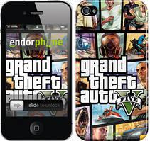 """Чехол на iPhone 4 GTA 5. Collage """"630c-15"""""""