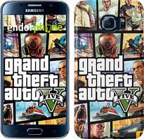 "Чехол на Samsung Galaxy S6 G920 GTA 5. Collage ""630c-80"""