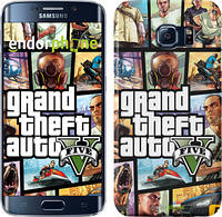 "Чехол на Samsung Galaxy S6 Edge G925F GTA 5. Collage ""630c-83"""