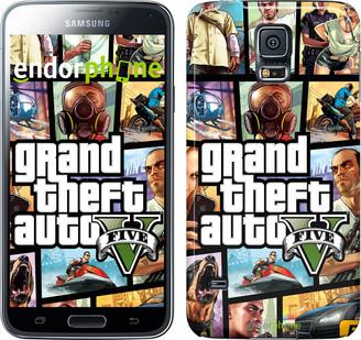 "Чохол на Samsung Galaxy S5 Duos SM G900FD GTA 5. Collage ""630c-62"""