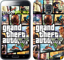 "Чехол на Samsung Galaxy S5 Duos SM G900FD GTA 5. Collage ""630c-62"""