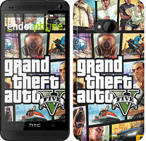 "Чехол на HTC One M7 GTA 5. Collage ""630c-36"""