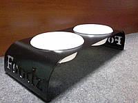 Миски на низкой подставке, 2 шт * 0,45 л