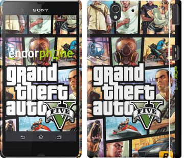 "Чехол на Sony Xperia Z3 Compact D5803 GTA 5. Collage ""630c-277"""