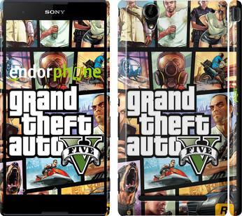 "Чехол на Sony Xperia T2 Ultra Dual D5322 GTA 5. Collage ""630c-92"""