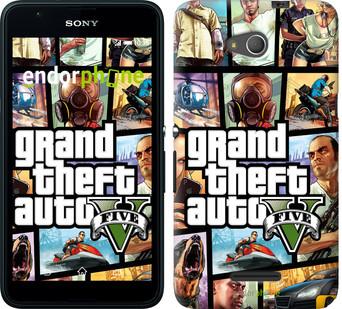 "Чехол на Sony Xperia E4g GTA 5. Collage ""630u-326"""