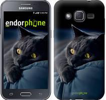 """Чохол на Samsung Galaxy J2 J200H Димчастий кіт """"825c-190"""""""