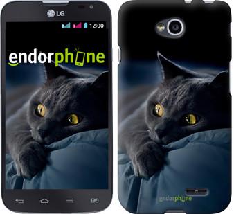 "Чехол на LG L70 Dual D325 Дымчатый кот ""825u-201"""
