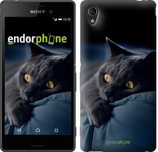 "Чехол на Sony Xperia M4 Aqua Дымчатый кот ""825c-162"""