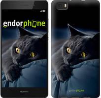 """Чохол на Huawei Ascend P8 Lite Димчастий кіт """"825u-126"""""""