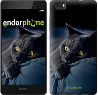"Чохол на Huawei P8 Max Димчастий кіт ""825u-371"""