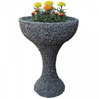 """Вазон садовый для цветов """"Глория"""" бетонный  Гранит серый"""