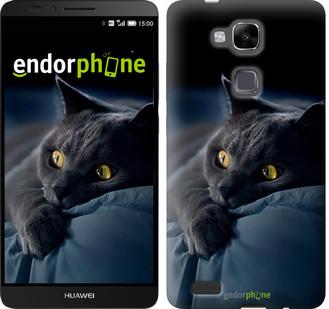 """Чехол на Huawei Ascend Mate 7 MT7-L09 Дымчатый кот """"825u-140"""""""