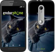 """Чохол на Motorola Moto G3 Димчастий кіт """"825u-318"""""""