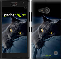 """Чехол на Nokia Lumia 650 Дымчатый кот """"825c-393"""""""