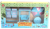 """Игровой набор """"Happy Family"""" (аналог Sylvanian Families) - мебель для пляжа."""