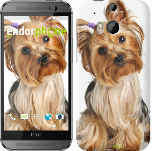 """Чехол на HTC One M8 Йоркширский терьер с хвостиком """"930c-30"""""""