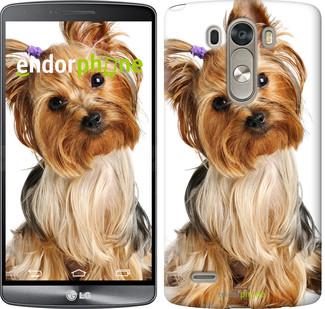 """Чехол на LG G4 H815 Йоркширский терьер с хвостиком """"930c-118"""""""