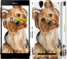 """Чохол на Sony Xperia T2 Ultra Dual D5322 Йоркширський тер'єр з хвостиком """"930c-92"""""""